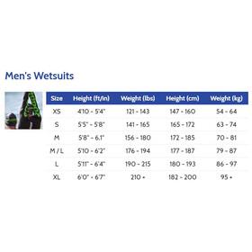 Zoggs FX3 Wetsuit Men Black/Green